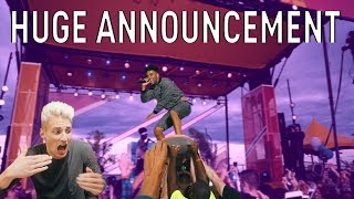 iSPY SINGER CROWD SURFED on a SURF BOARD (SURPRISE ANNOUNCEMENT!)