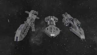 Battlestar Galactica Ships - Space Engineers