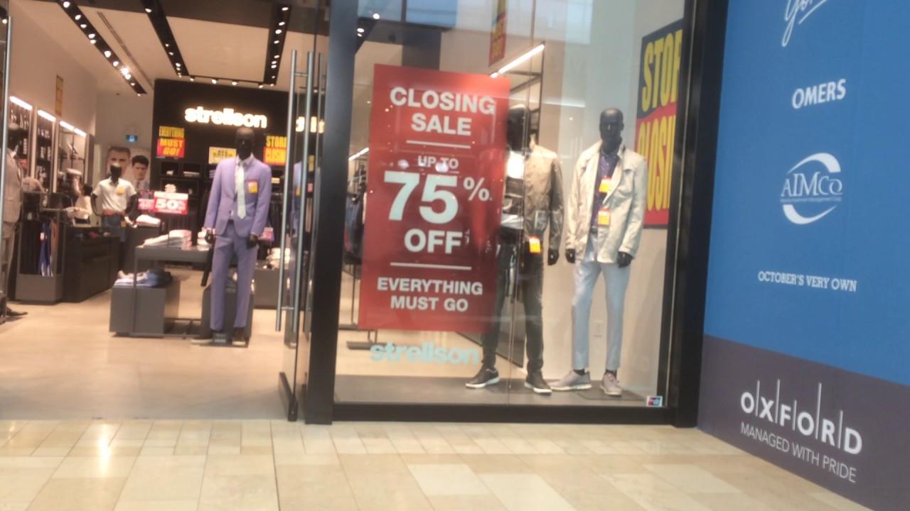 newest 5540e bc910 Strellson Store Closure... Yorkdale Mall Toronto Canada