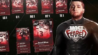 MADDEN 18 ULTIMATE TEAM GIANT PLAYERS!!!! ALL MOST FEARED TEAM