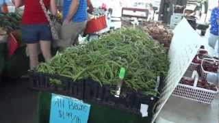 A Walk Through A Farmer's Market At North Carolina State University In Raleigh