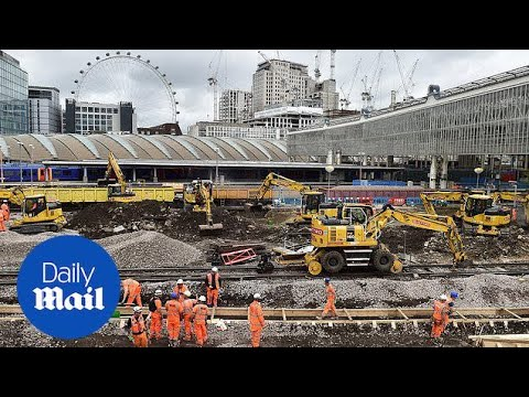 Waterloo engineering works to cause major rail disruption - Daily Mail