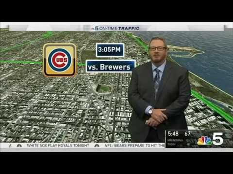 Jim Ryan In Studio Traffic Reports - WMAQ TV, NBC 5 Chicago 9.17.16