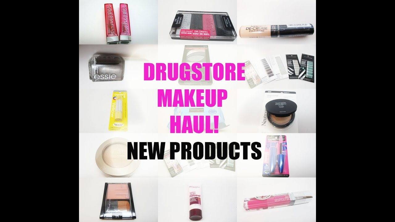 Huge Drugstore Makeup Haul - New Products at CVS - YouTube