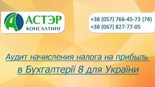 Видеоурок Аудит начисления налога на прибыль в Бухгалтерії 8 для України