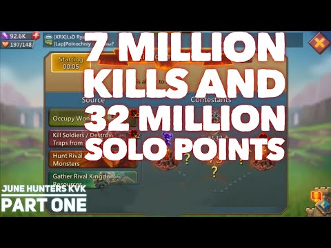 KvK June 30th 2.6 BILLION POINTS Hunters KvK Part 1 Lords Mobile