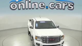 A96657TA Certified 2016 GMC Canyon SLT 4WD Crew Cab White Test Drive, Review, For Sale