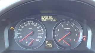 Активация сервисного меню в Volvo S40/V50/C30