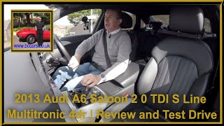 Review and Virtual Video Test Drive In Our 2013 Audi A6 Saloon 2 0 TDI S Line Multitronic 4dr DK13KW