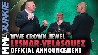 Brock Lesnar, Cain Velasquez to meet at WWE Crown Jewel 2019