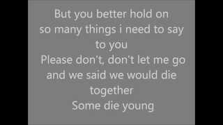 Some die young Laleh Lyrics (karaoke)