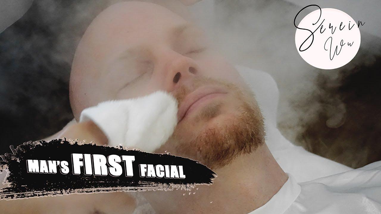Boys first facial