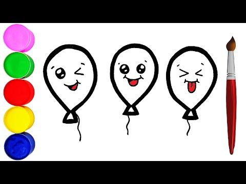 lustige-luftballons-zeichnen-und-malen-für-kinder