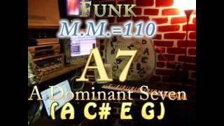 a7 a c e g one chord backing track funk m m 110