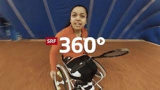Action auf dem Rollstuhl: Ein Tag mit Zuger Tennisspielerin Nalani Buob in 360°