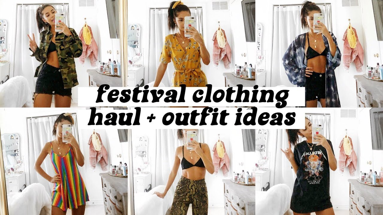 TRY ON FESTIVAL HAUL + OUTFIT IDEAS | BOOHOO