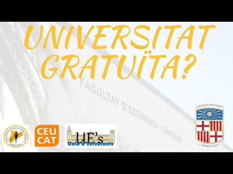 Universitat Gratuïta? Debat a Facultat Economia i Empresa UB