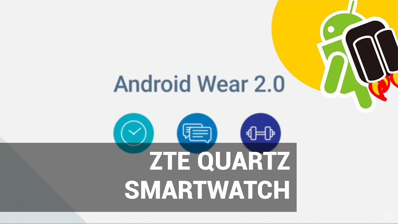 ea508fdc7 ZTE Quartz, el primer smartwatch de ZTE con Android Wear 2.0