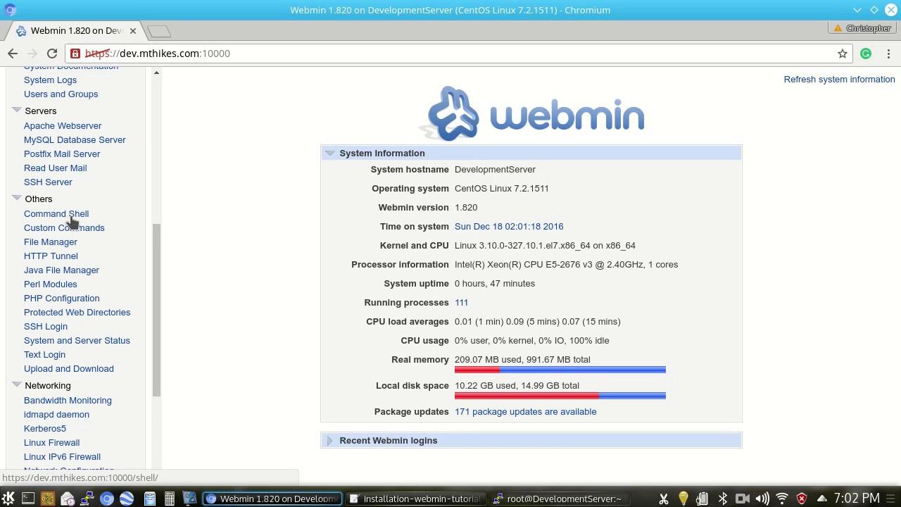 webmin pour windows