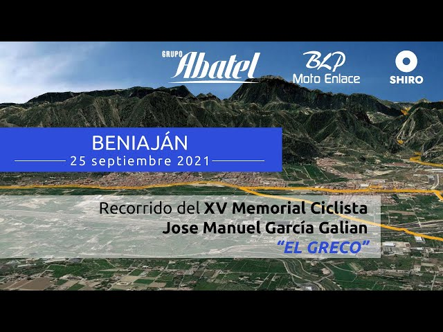 Beniaján. XV Memorial Ciclista Jose Manuel García Galian