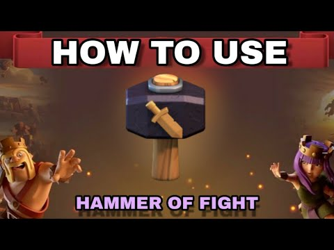 CLASH OF CLANS : How To Use Magical Item ( Hammer Of Fighting ) In Clan War League