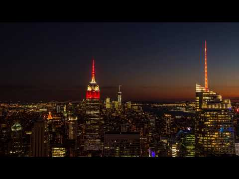 Sunset timelapse Top of the Rock New York
