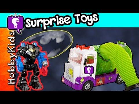 JOKER Steals SURPRISE Toys From Gotham City! Batman TMNT Help HobbyKidsTV