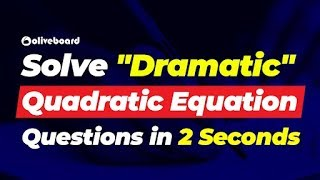 Solve Quadratic Equation In 2 Seconds | Quants Tricks