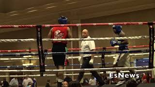 Dont Miss This Two Amateur Crazy Action Pack Fight  EsNews Boxing
