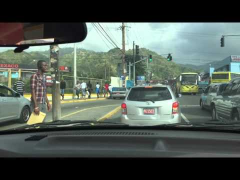 Drive up to Papine from Sovereign Supermarket Jamaica - January 28, 2016