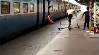 Bhubaneswar: Railway engineer saves woman passenger from accident