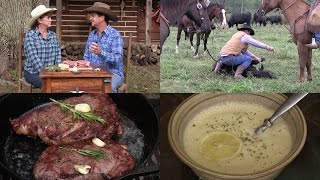 Riding with Cowboys, Greek Chicken Lemon Rice Soup & The BEST Steak You