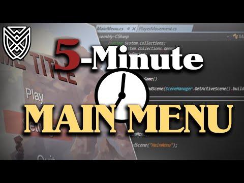 5 Minute MAIN MENU Unity Tutorial