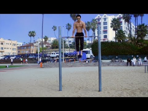 Jon Komp Shin  Santa Monica Original Muscle Beach  Free Body Weight Training  Ropes & Muscle Ups