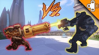 B.O.B. VS Bastion: WHO WINS?! Overwatch Funny & Epic Moments 740