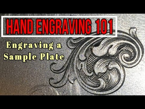Hand Engraving a Sample Plate- Episode 1