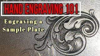Hand Engraving a Sample Plate- Episode 1 Engraving Basics