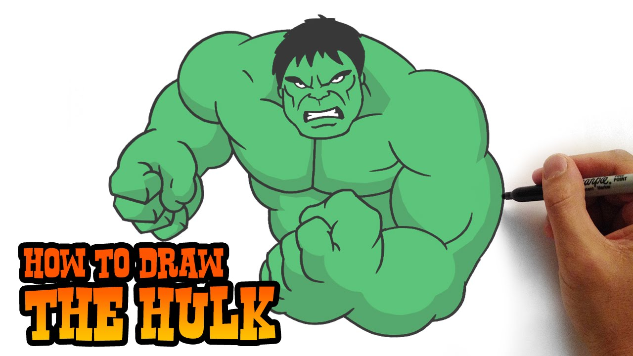 How To Draw The Hulk  Simple Step By Step Video Lesson   YouTube