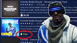 "How to Download FREE ""Blue Striker"" SKIN - GAMEPLAY! - Fortnite (PlayStation Plus Skin + Back Bling)"