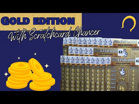 🍀 Gold Edition 💷 National Lottery Uk 💷 £2 Scratch Cards Today 💷 With Scratchcard Chancer 🍀