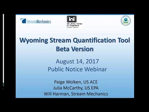 WY Stream Quantification Tool Webinar