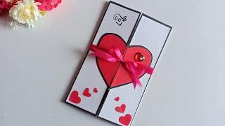 Beautiful Handmade Valentine's Day Card Idea / DIY Greeting  Cards for Valentine's Day card.