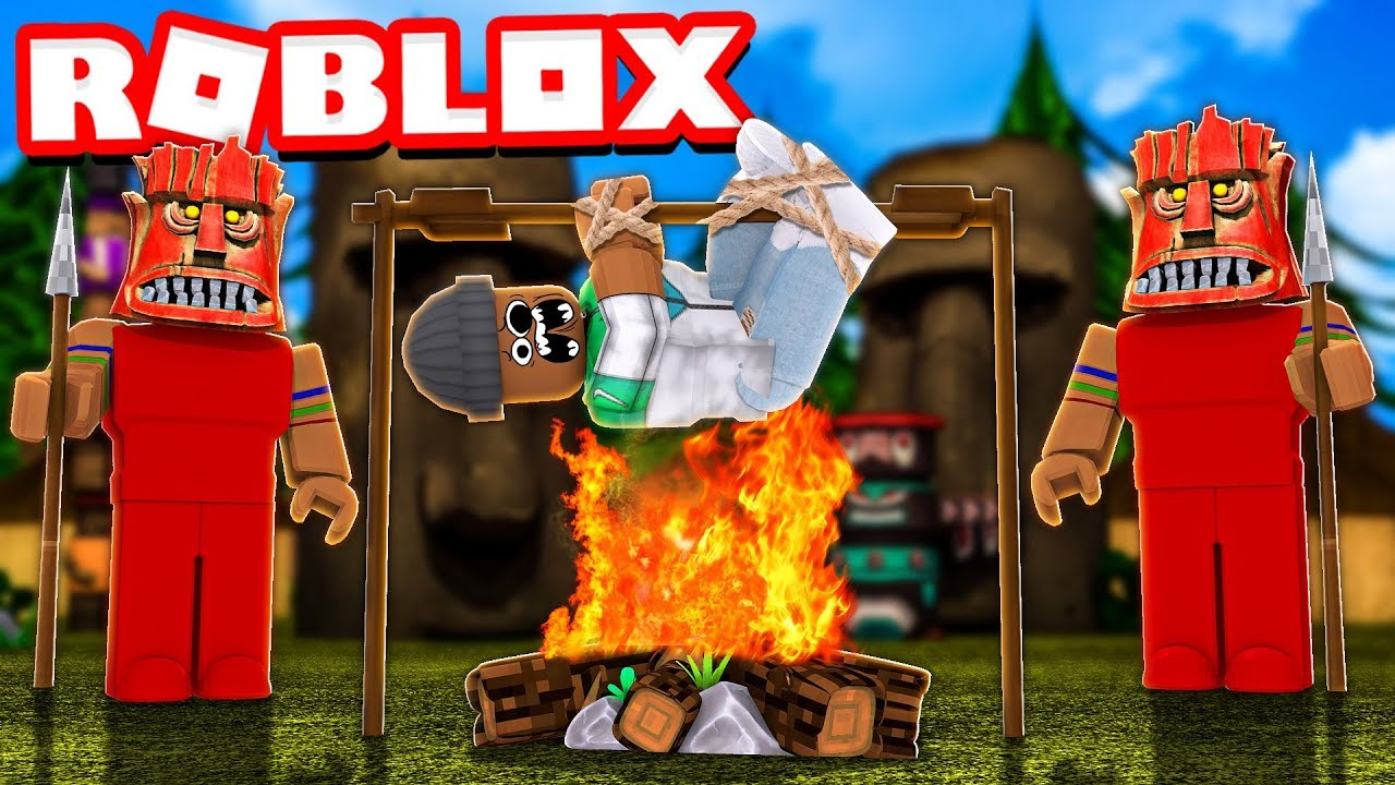 Survive Tiki Island In Roblox Camping Part 10 Youtube