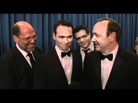 Backstage with Kevin Spacey & Scott Rudin  68th Golden Globe Award Winner