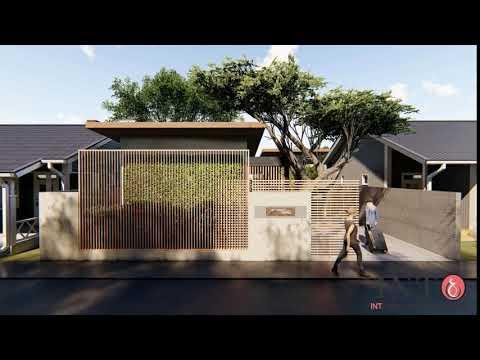 desain rumah modern tropis tema jepang - youtube