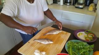 "Steamfish and Okra ""Jamaican Sinting"""