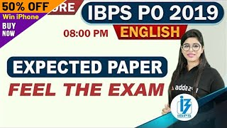 IBPS PO 2019 | English | EXPECTED PAPER