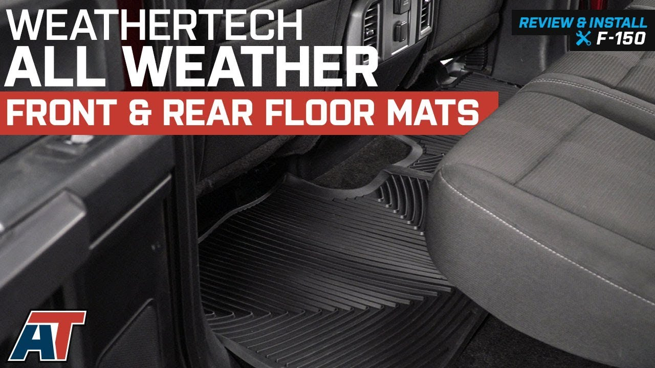 2015 2018 F150 Weathertech All Weather Front Rear Floor Mats