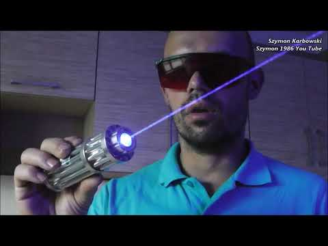 Strong 1,9W blue laser OX-BX1 Gatling Style, crazy experience - from auction online free shipping