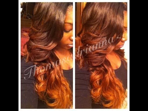 NEW HAIR!! FIRE OMBRE: HairbyBelleBree - YouTube